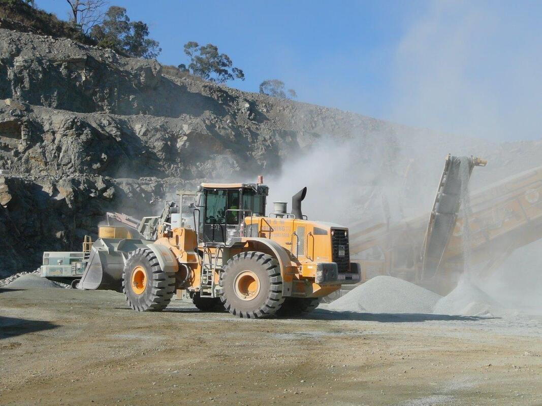 Dust from crushing in quarry